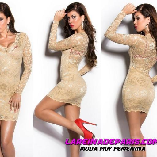 Vestido de encaje seductor diseño  [3]