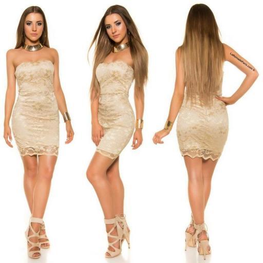 Mini vestido de encaje Oro elegancia vip [1]