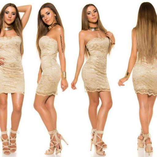 Mini vestido de encaje Oro elegancia vip [2]