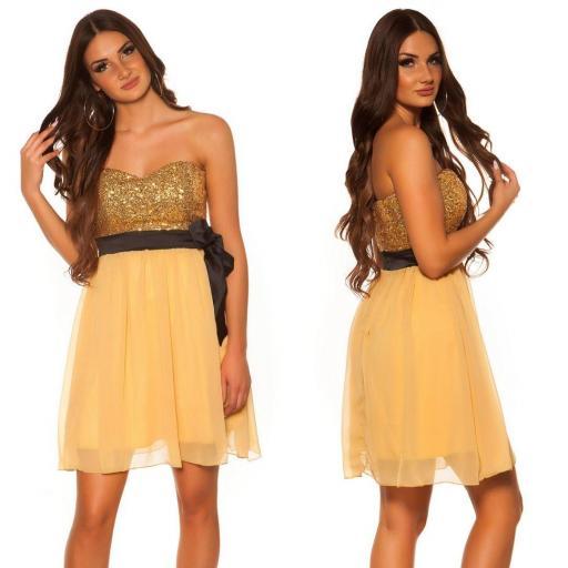 Girly party vestido oro [1]