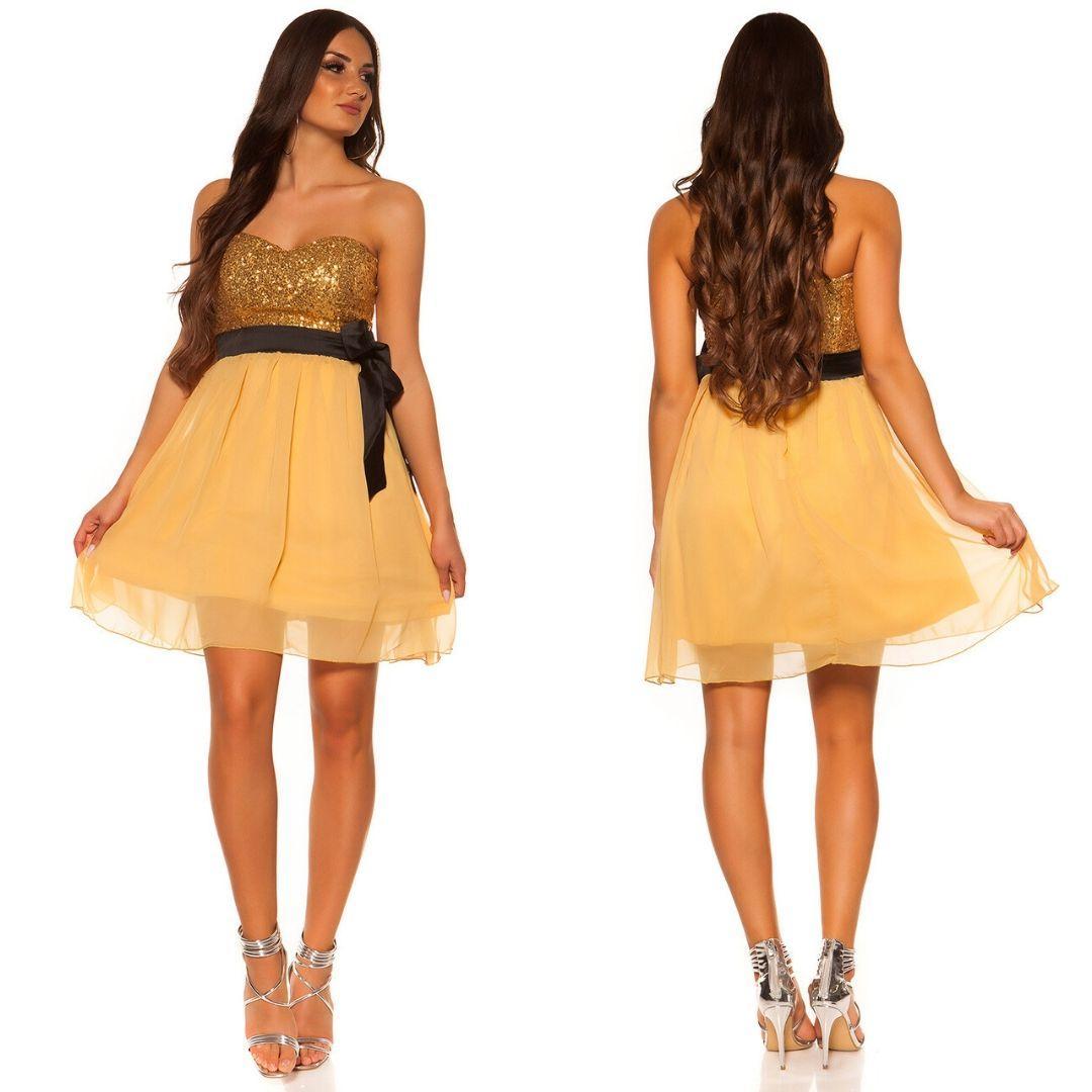 Girly party vestido oro