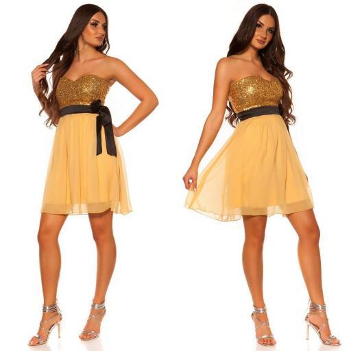 Girly party vestido oro [2]
