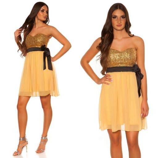 Girly party vestido oro [3]