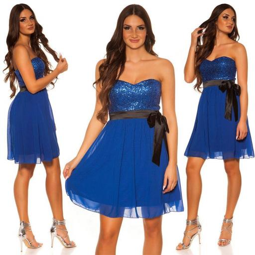 Girly party vestido azul