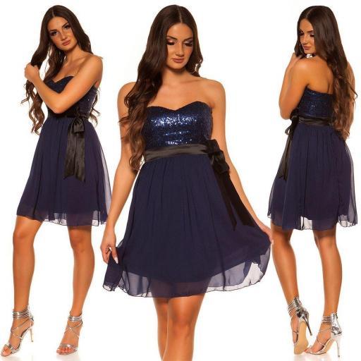 Girly party vestido azul oscuro