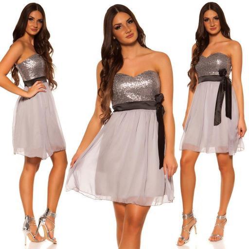 Girly party vestido gris