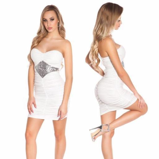 Vestido con pedrería blanco [2]