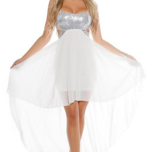 Vestido de fiesta blanco con lentejuelas [1]