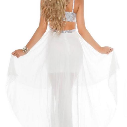 Vestido de fiesta blanco con lentejuelas [2]