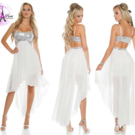 Vestido de fiesta blanco con lentejuelas [3]