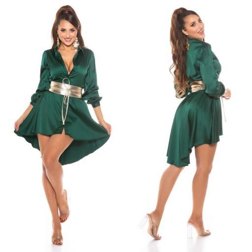 Vestido efecto seda verde [1]