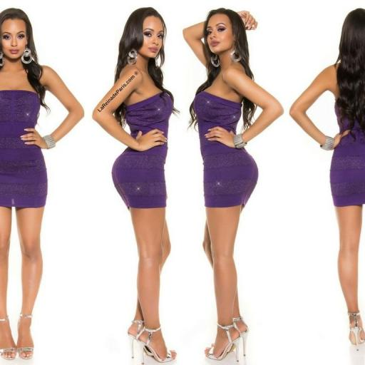 Mini vestido tejido de Lurex Purpura [2]