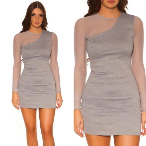Vestido de moda look moderno y elegante [3]