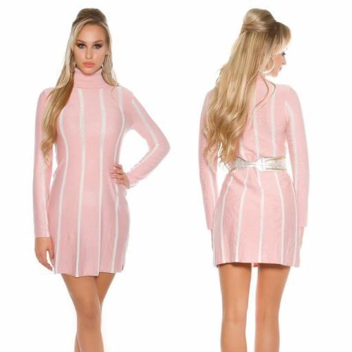 Vestido de punto Jazz rosa