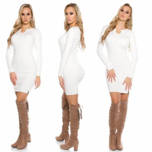 Vestido de punto blanco Bruni [1]