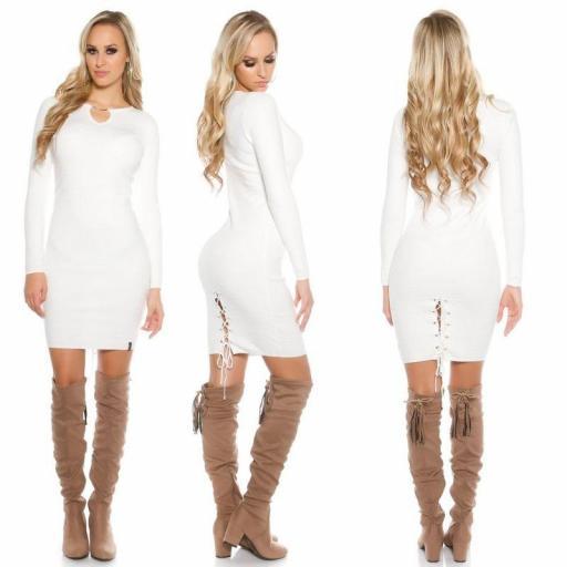 Vestido de punto blanco Bruni [2]