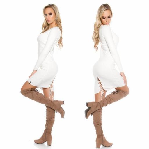 Vestido de punto blanco Bruni [3]