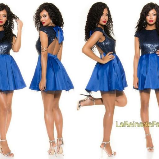 Vestido de fiesta azul con lentejuelas [1]