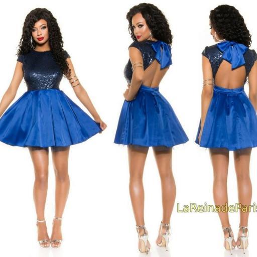 Vestido de fiesta azul con lentejuelas [3]