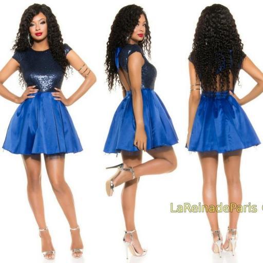 Vestido de fiesta azul con lentejuelas [2]
