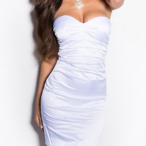 Vestido blanco elegante cocktail [1]