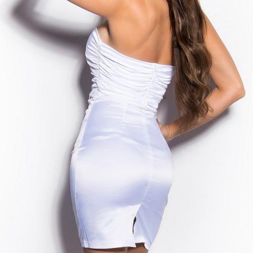 Vestido blanco elegante cocktail [2]