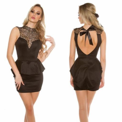 Vestido negro elegante Brillid