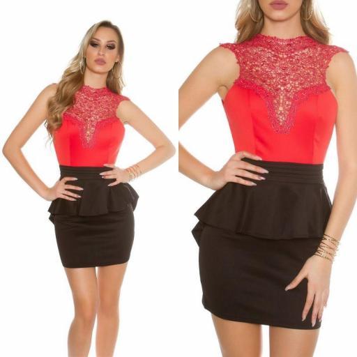 Vestido rojo elegante Brillid [3]