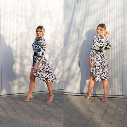 Vestido efecto seda zebra print  [2]