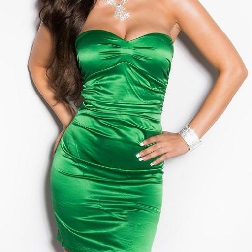 Vestido de moda de estilo cóctel verde [1]