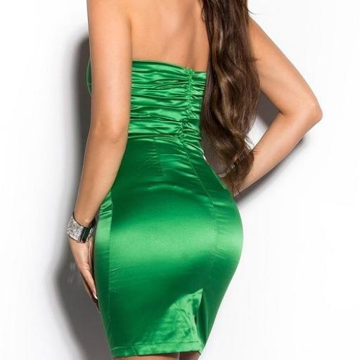 Vestido de moda de estilo cóctel verde [2]