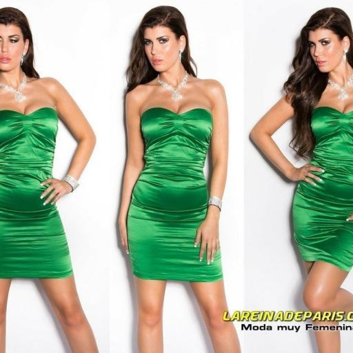 Vestido de moda de estilo cóctel verde [3]