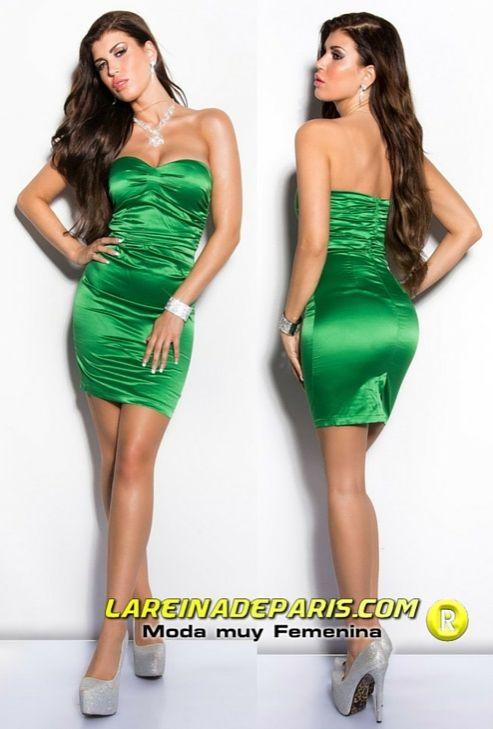 Vestido de moda de estilo cóctel verde