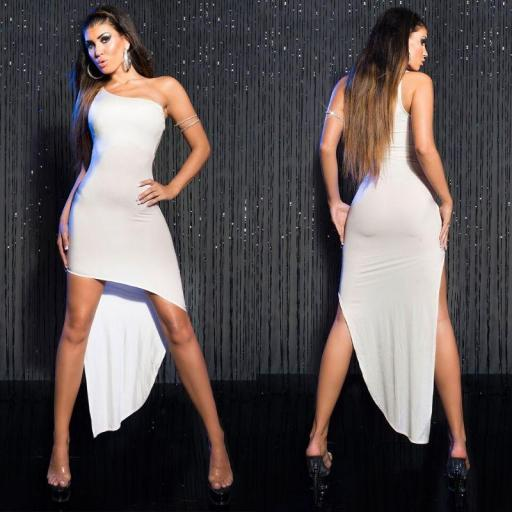 Oferta vestido ajustado elegante blanco