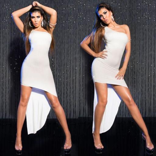 Oferta vestido ajustado elegante blanco [3]