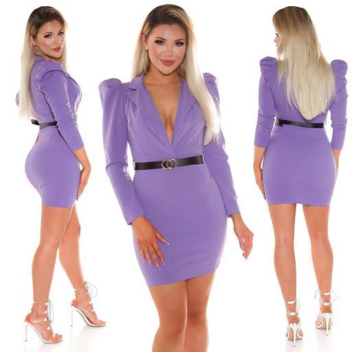 Vestido escotado lila [3]