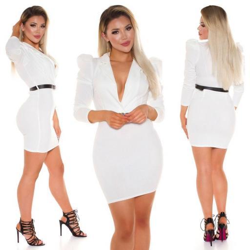 Vestido escotado blanco [3]