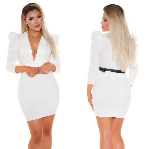 Vestido escotado blanco [2]