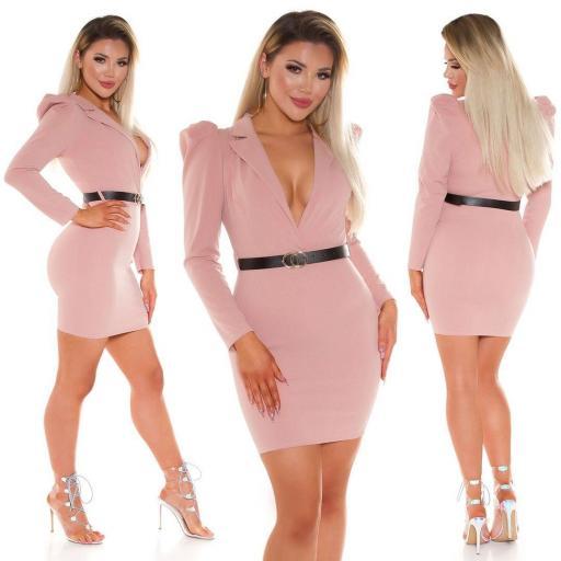 Vestido escotado rosa [3]