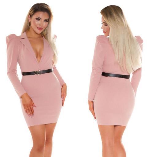 Vestido escotado rosa [2]