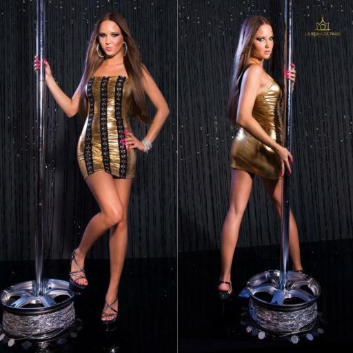 Vestido oro con ganchos metálicos [2]