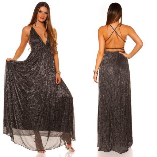 Vestido negro plata de fiesta  [3]