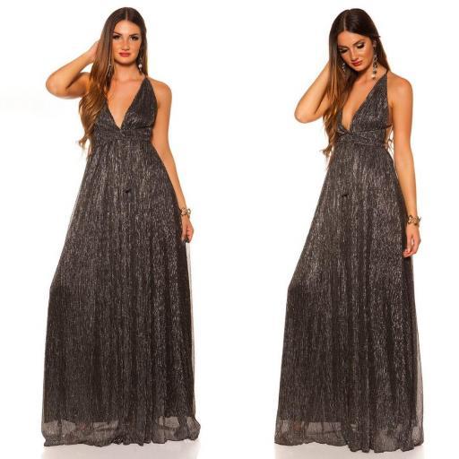 Vestido negro plata de fiesta  [2]