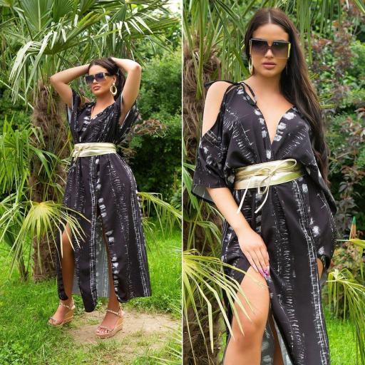 Vestido largo moda verano negro