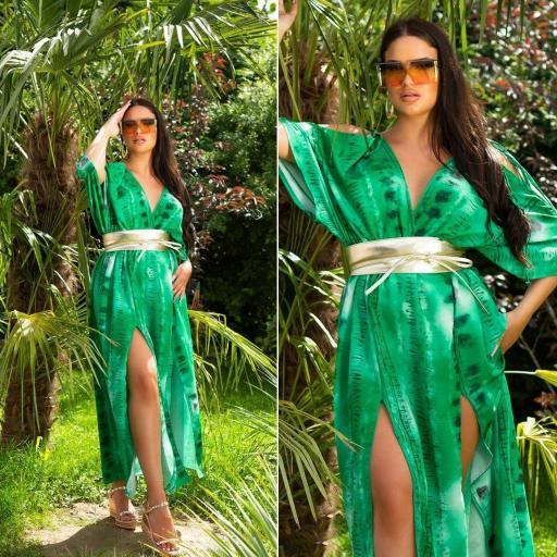 Vestido largo moda verano verde