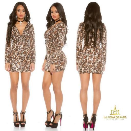 Mini vestido de fiesta Leopardo [1]