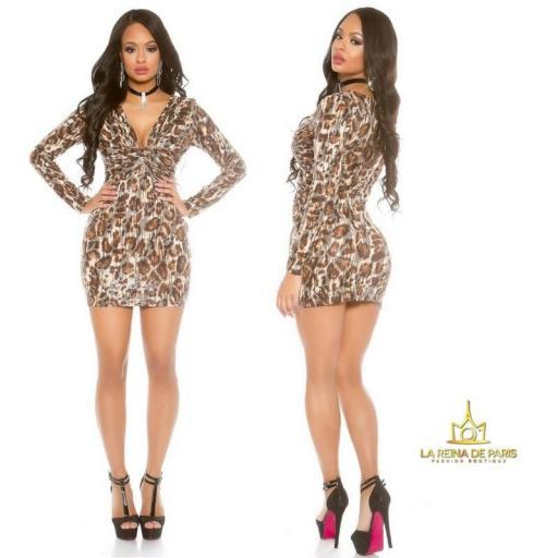 Mini vestido de fiesta Leopardo [2]