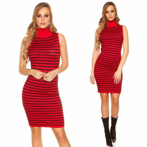 Vestido marinero con cuello alto rojo [3]