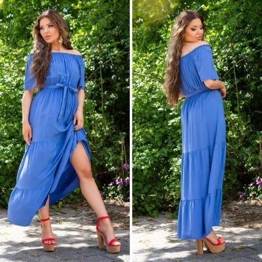Vestido azul maxi de verano