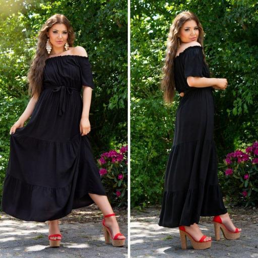 Vestido negro maxi de verano